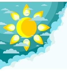 Good weather background vector