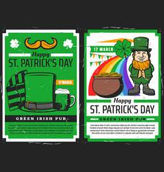 green beer irish leprechaun clove patricks day vector image