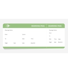 Green boarding pass vector