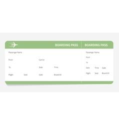 green boarding pass vector image