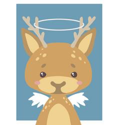 guardian angel deer vector image