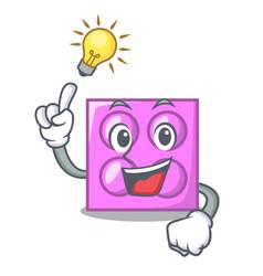 have an idea toy brick mascot cartoon vector image