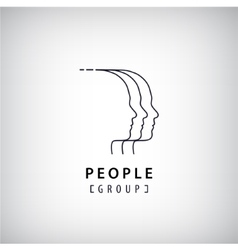 human heads logo People creative group vector image