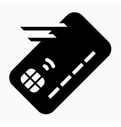 Ic chip debit credit card move transfer issue vector