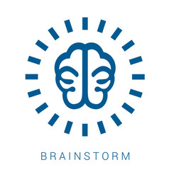 Icon brainstorm vector