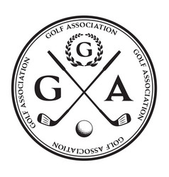 Label of golf logo of golf championship vector