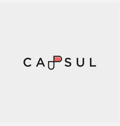 Letter p capsule logo template design vector