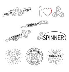 Logo hand spinner toys vector