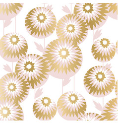 luxury style chrysanthemum flowers pattern vector image