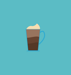 mocha icon flat element of vector image