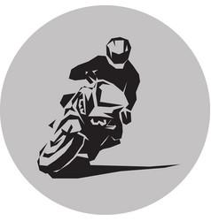 Motorcycle racer vector