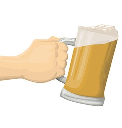 Mug of beer vector image