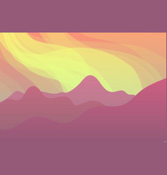 nature landscape with mountains vector image