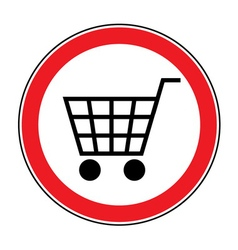 No cart sign 3 vector