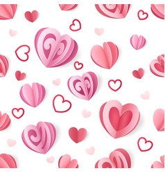 paper heart pattern seamless romantic texture vector image
