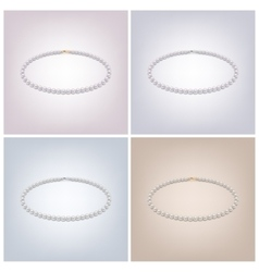 pearl necklaces vector image