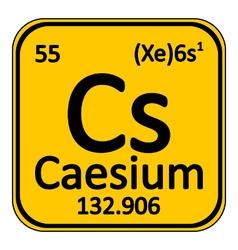 Periodic table element caesium icon vector image