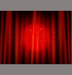 red closed theater curtain vector image