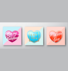 romantic typography valentines day vector image