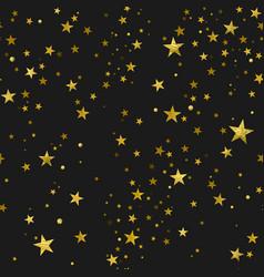 seamless pattern gold stars vector image