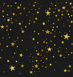 Seamless pattern of gold stars vector