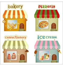 Set of cartoon shops vector