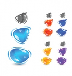 Shiny gems vector