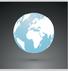 simple world globe earth vector image