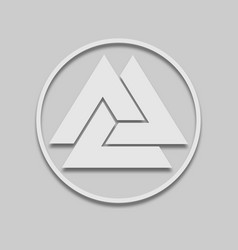 Slavic sign icon valknut vector