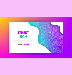 street sign landing page vector image