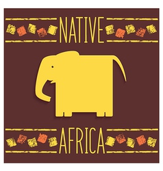 Stylized African elephant vector
