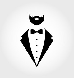 Suit icon isolated on white background vector