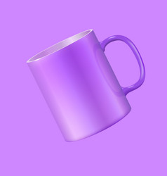 Tea mug hovers in the air vector