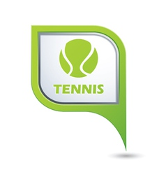 Tennis green pointer vector