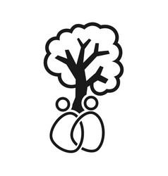 Tree commitment teamwork together black logo vector