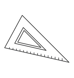 Triangle ruler utensil icon thin line vector