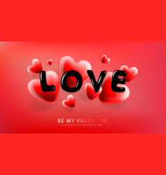 Valentines day background with heart shape and vector