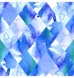 Watercolor geometric background vector