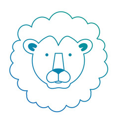 Wild lion head icon vector