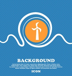 Windmill icon sign Blue and white abstract vector