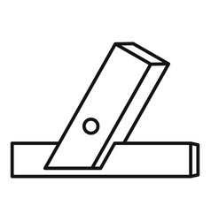 wood angle tool icon outline style vector image