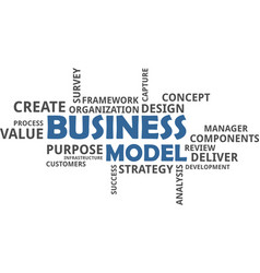 Word cloud - business model vector