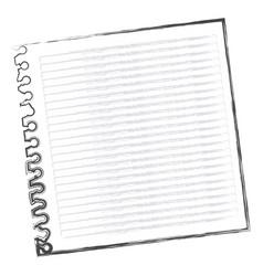 contour notebook school icon vector image