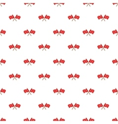 Crossed flags of Turkey pattern cartoon style vector image vector image