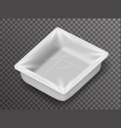 isometric disposable food pack isolated 3d vector image vector image