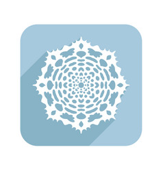 patterned snowflake lace doily flat vector image
