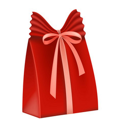 red gift box icon flat style vector image vector image