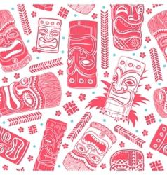Vintage Aloha Tiki seamless pattern vector image vector image