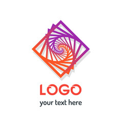 abstract geometric pattern line logo icon vector image