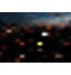 Blurred night city landscape vector image